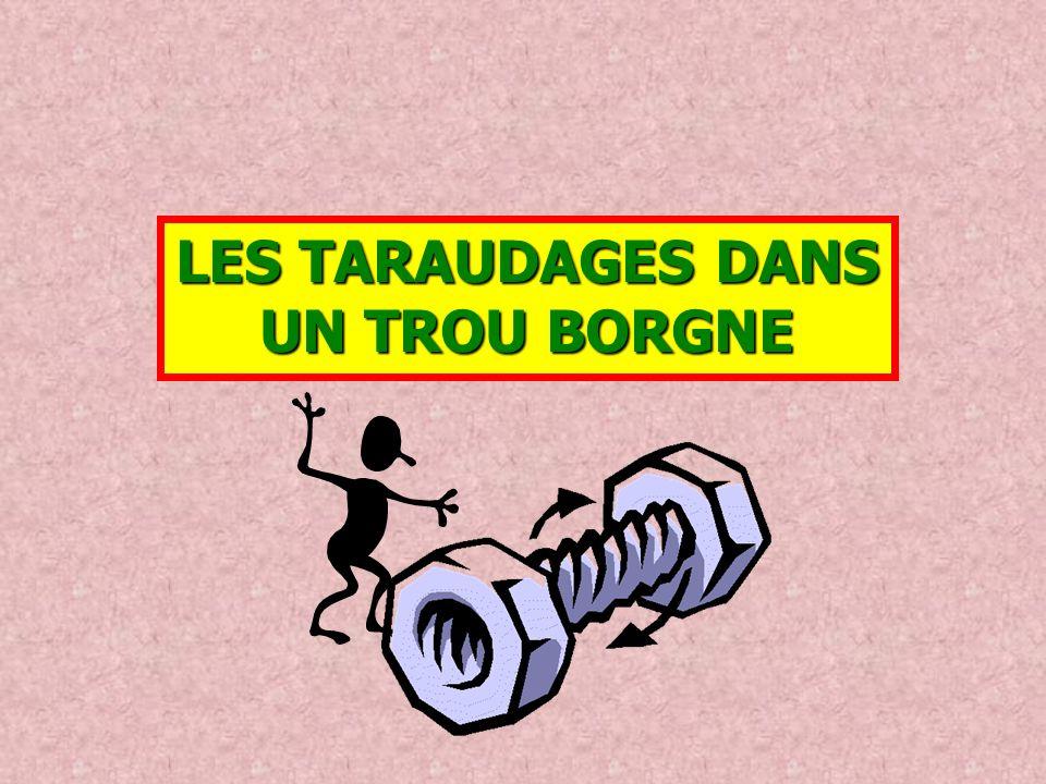 LES TARAUDAGES DANS UN TROU BORGNE