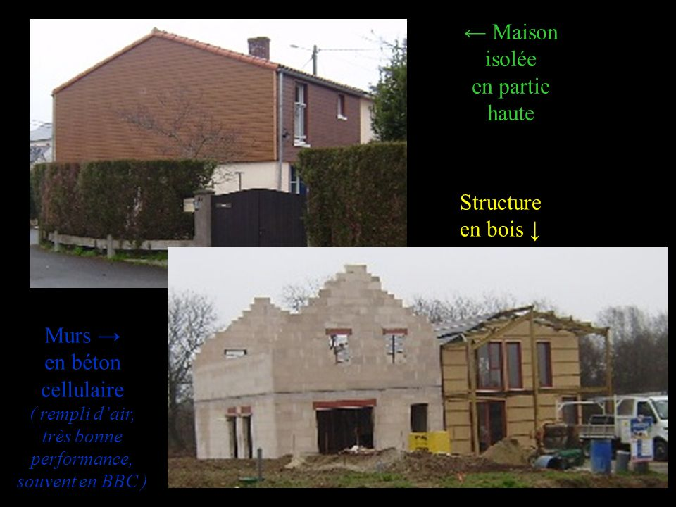 ← Maison isolée en partie haute