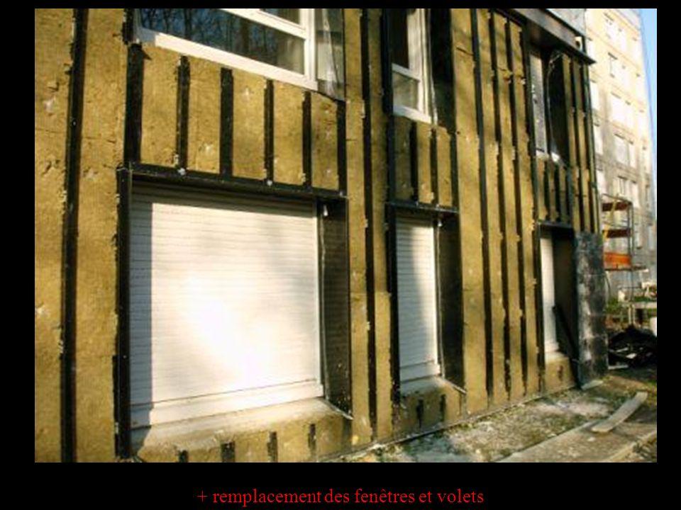 + remplacement des fenêtres et volets