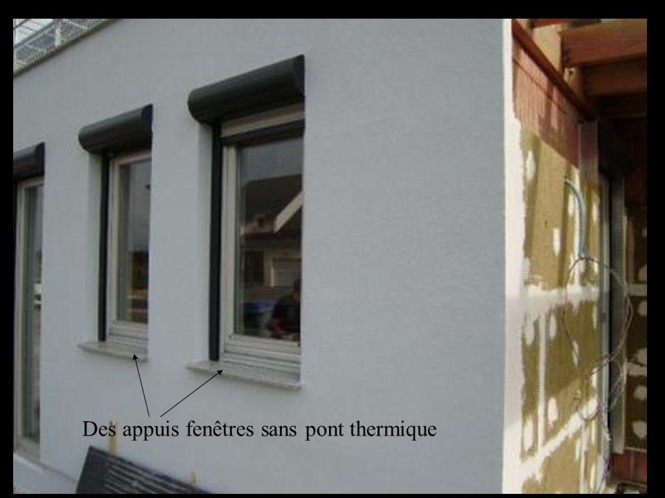 Des appuis fenêtres sans pont thermique