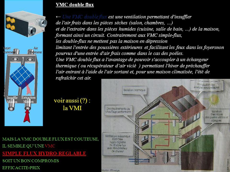 B voir aussi ( ) : la VMI VMC double flux
