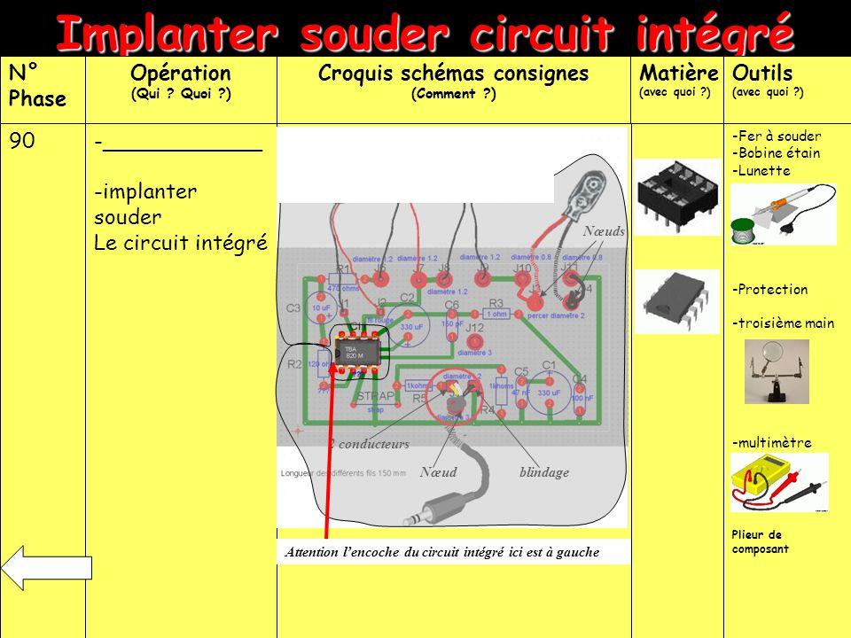 Implanter souder circuit intégré