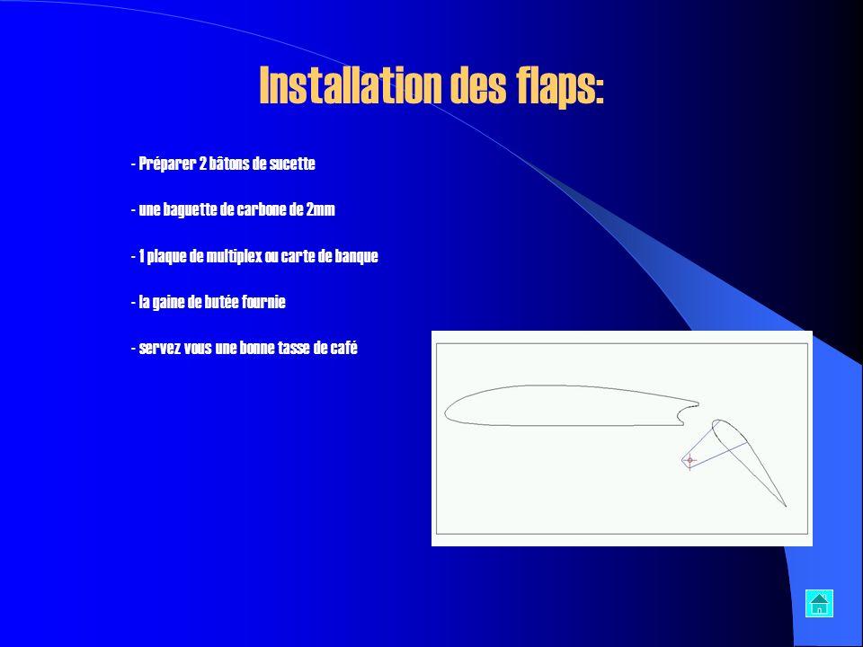 Installation des flaps: