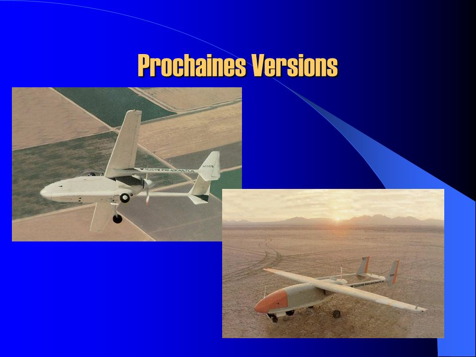 Prochaines Versions