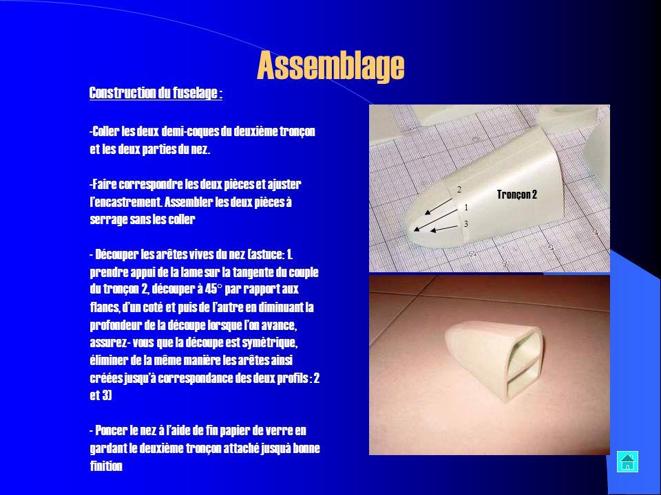 Assemblage Construction du fuselage :