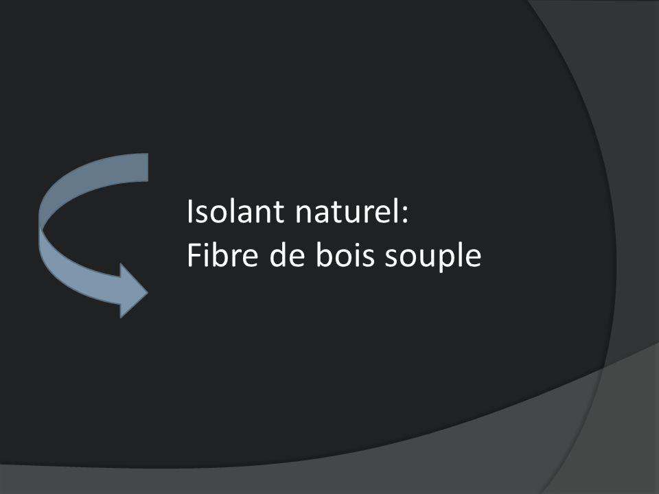 Isolant naturel: Fibre de bois souple
