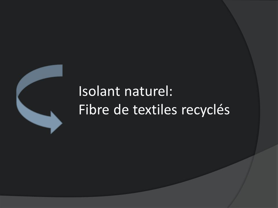 Isolant naturel: Fibre de textiles recyclés