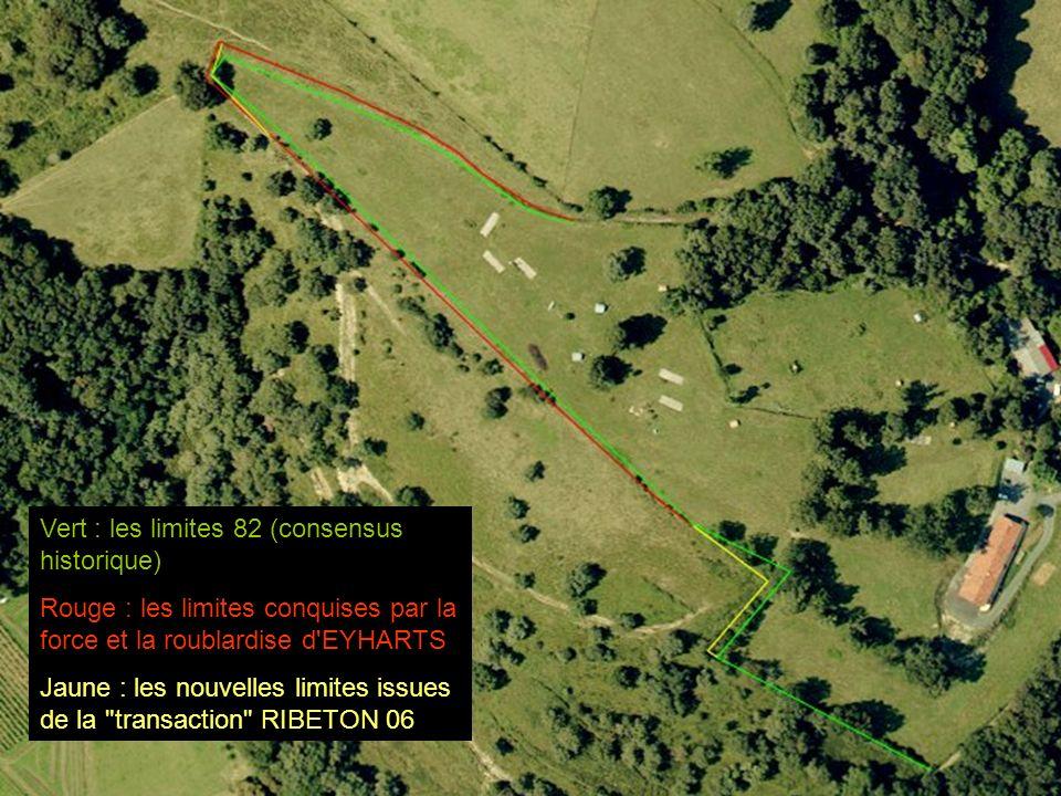 Vert : les limites 82 (consensus historique)