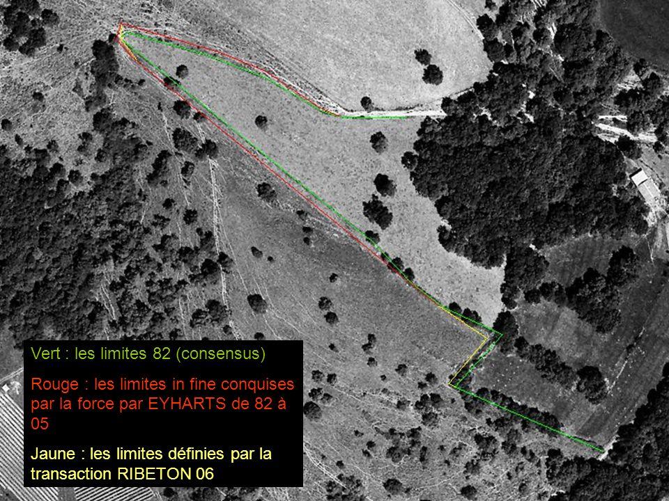 Vert : les limites 82 (consensus)