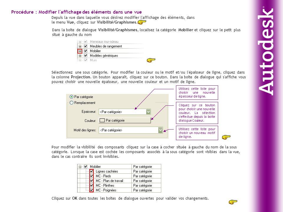 Procédure : Modifier l affichage des éléments dans une vue