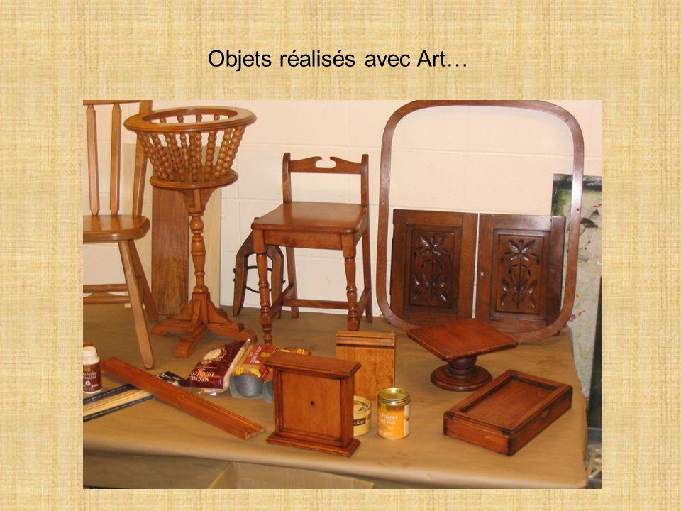Objets réalisés avec Art…