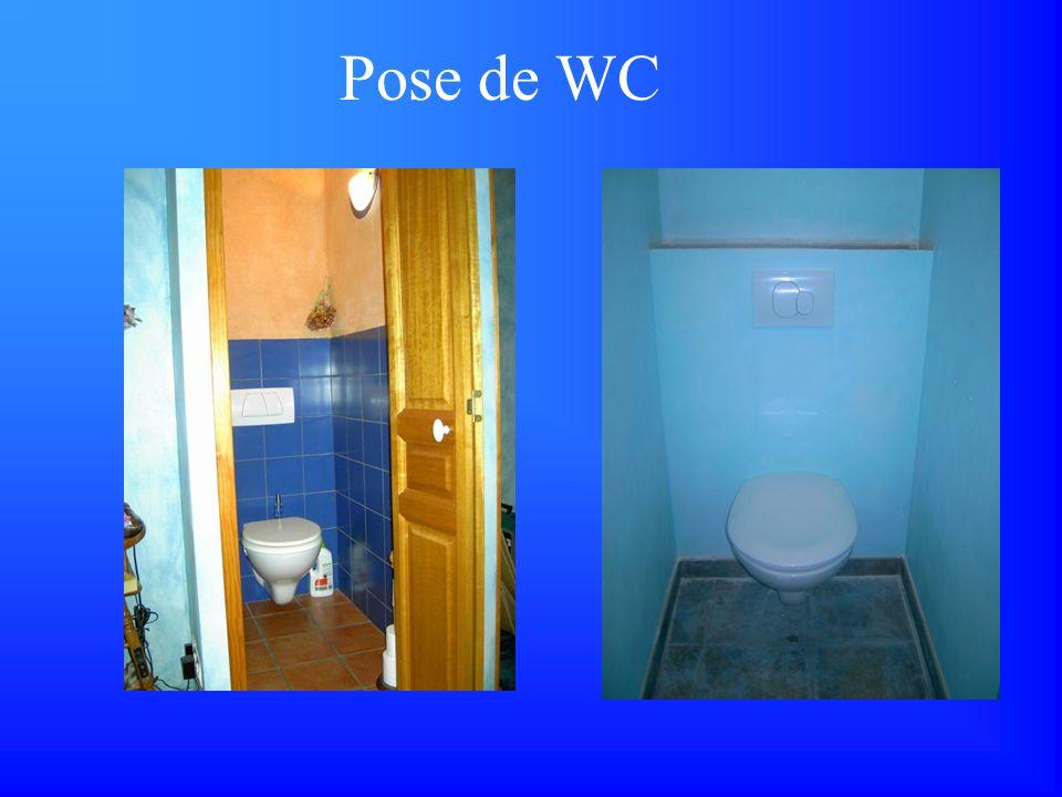 Pose de WC