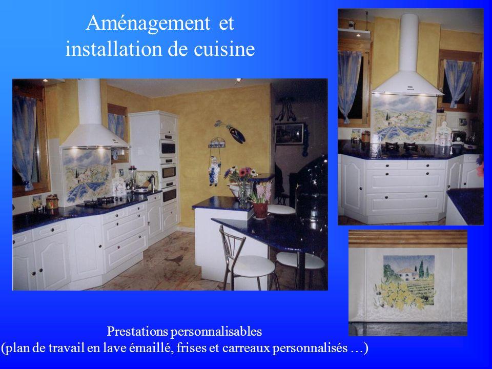 Aménagement et installation de cuisine