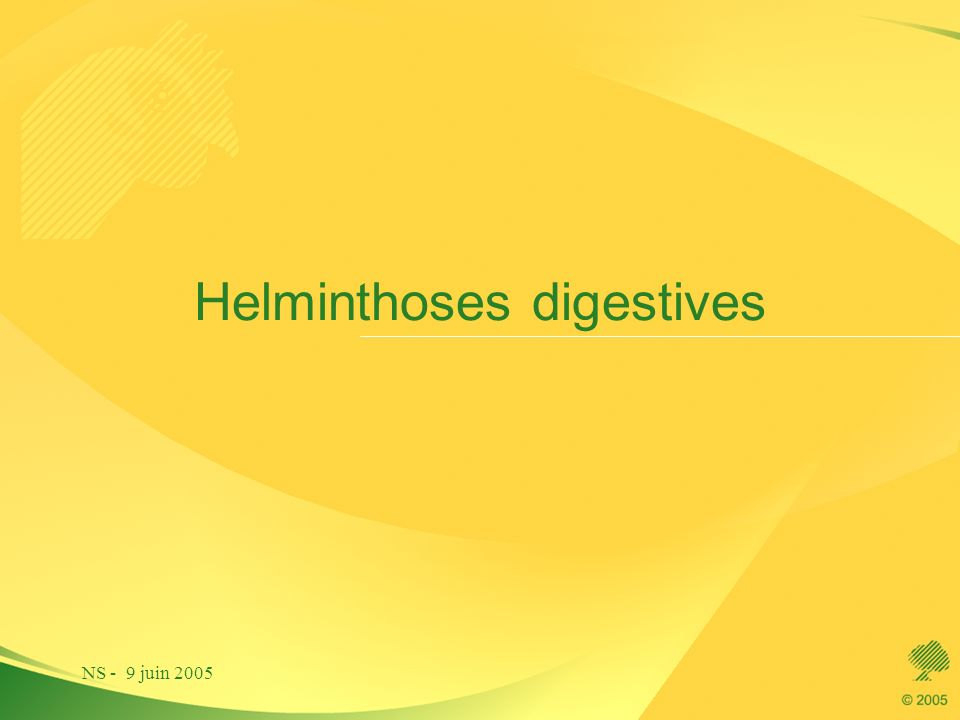 Helminthoses digestives