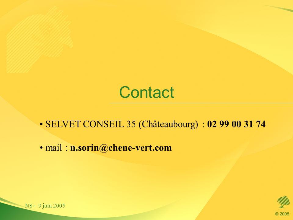 Contact SELVET CONSEIL 35 (Châteaubourg) : 02 99 00 31 74
