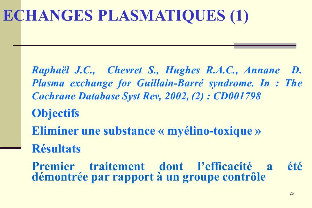 ECHANGES PLASMATIQUES (1)