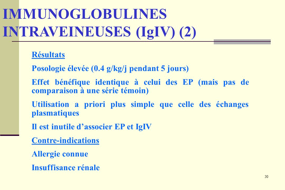 IMMUNOGLOBULINES INTRAVEINEUSES (IgIV) (2)