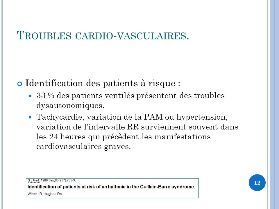 Troubles cardio-vasculaires.