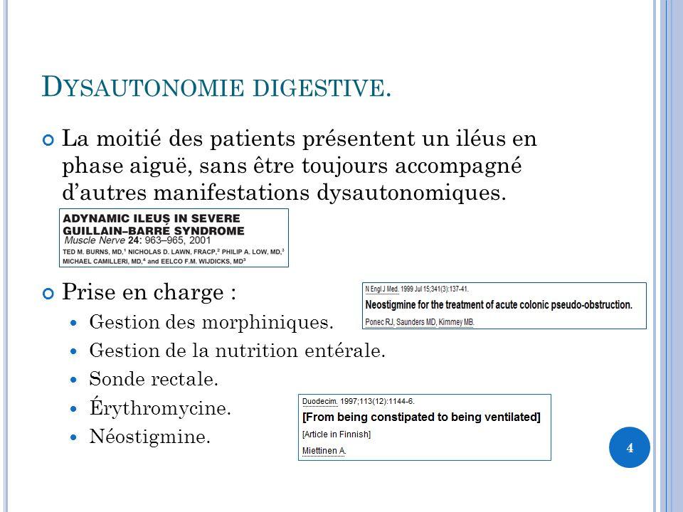 Dysautonomie digestive.