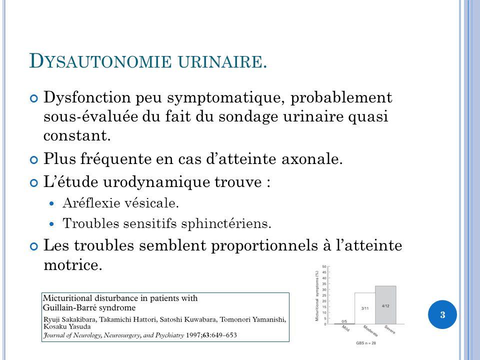 Dysautonomie urinaire.