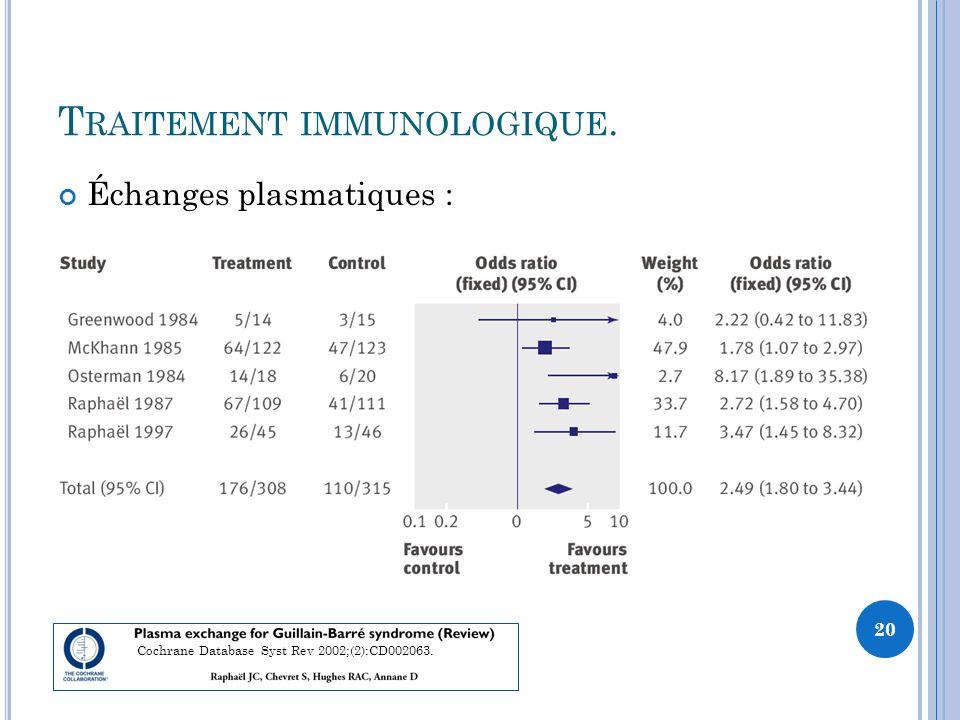 Traitement immunologique.
