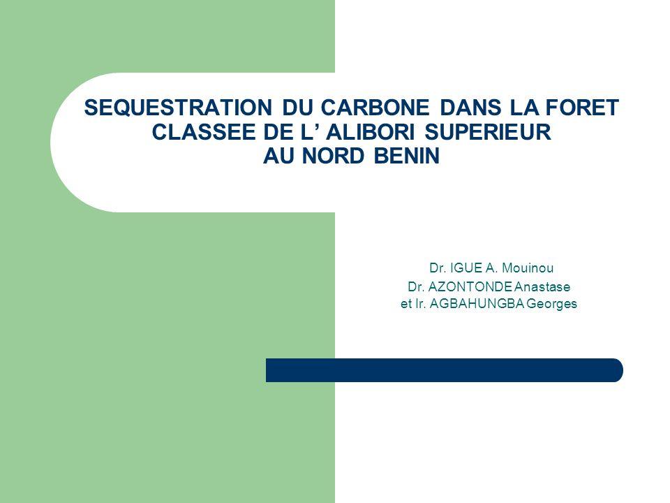 Dr. IGUE A. Mouinou Dr. AZONTONDE Anastase et Ir. AGBAHUNGBA Georges