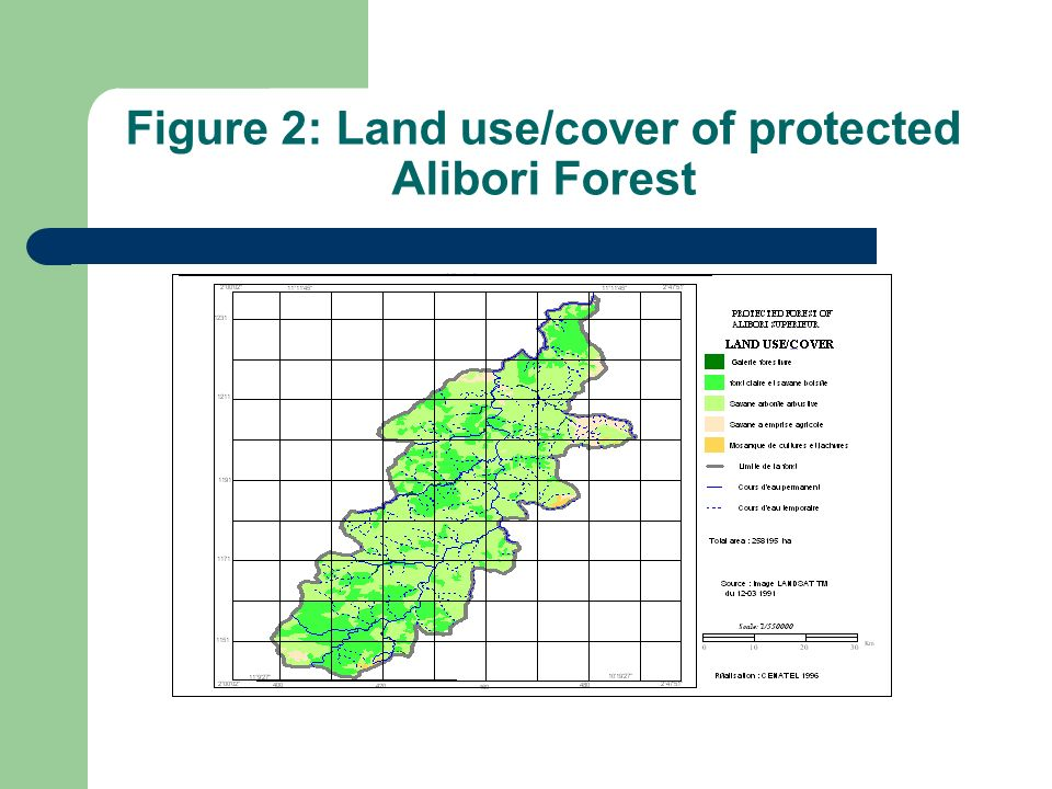 Figure 2: Land use/cover of protected Alibori Forest