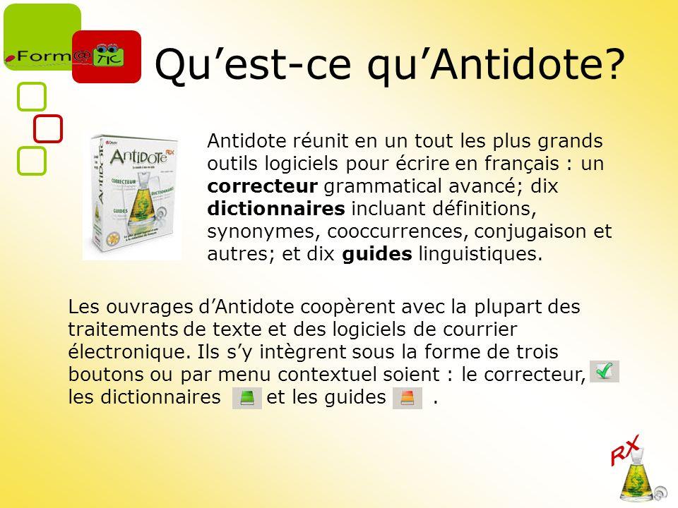 Qu'est-ce qu'Antidote