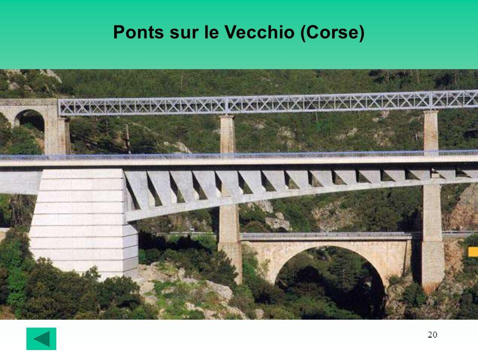 Ponts sur le Vecchio (Corse)