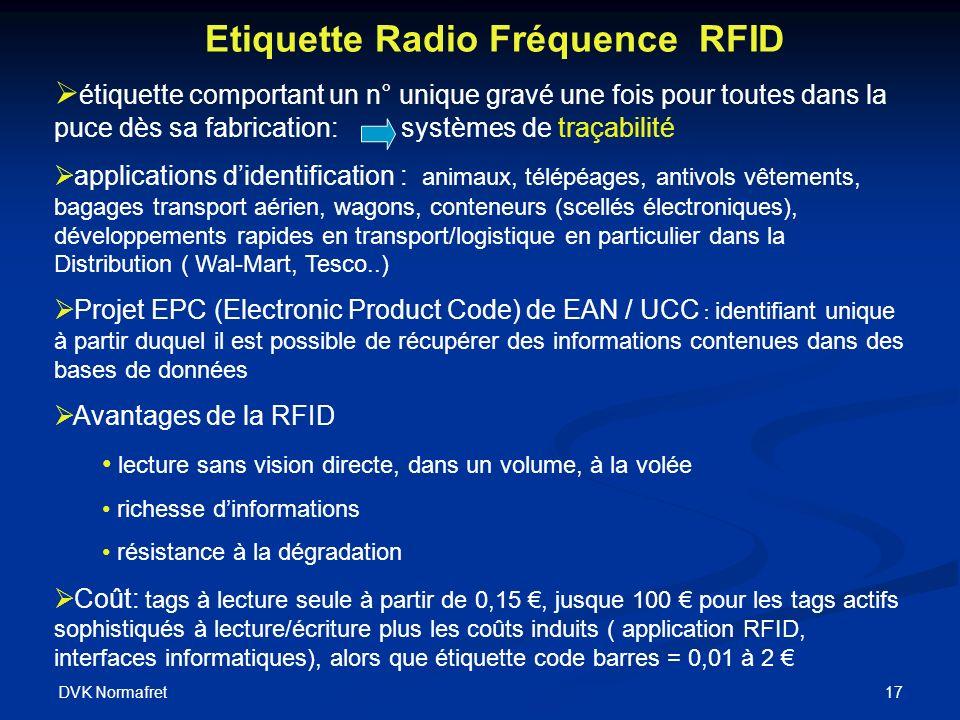 Etiquette Radio Fréquence RFID