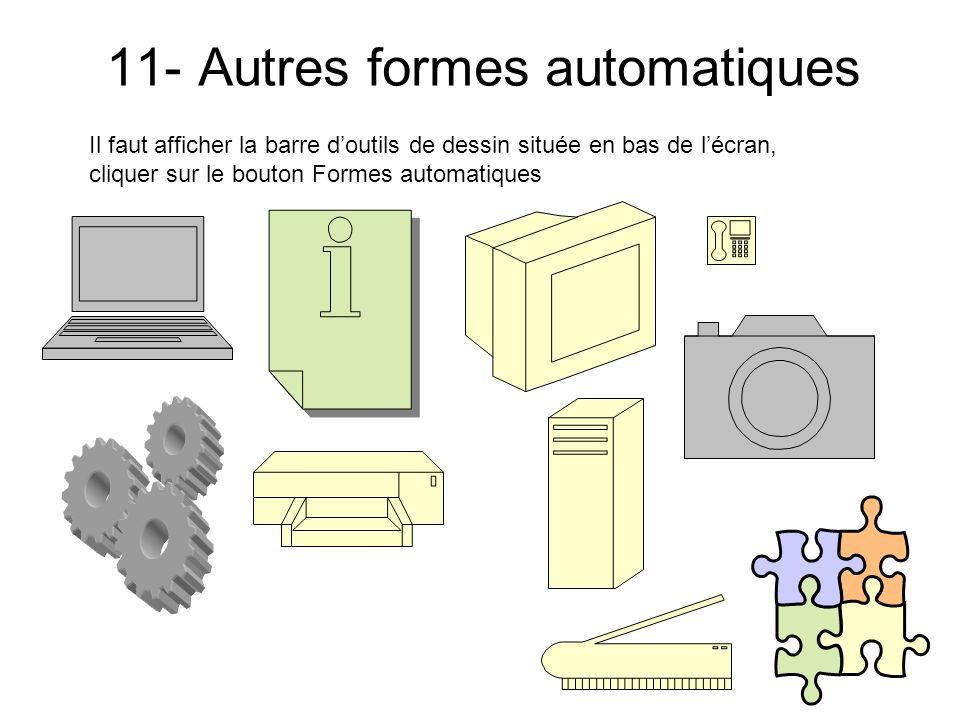 11- Autres formes automatiques