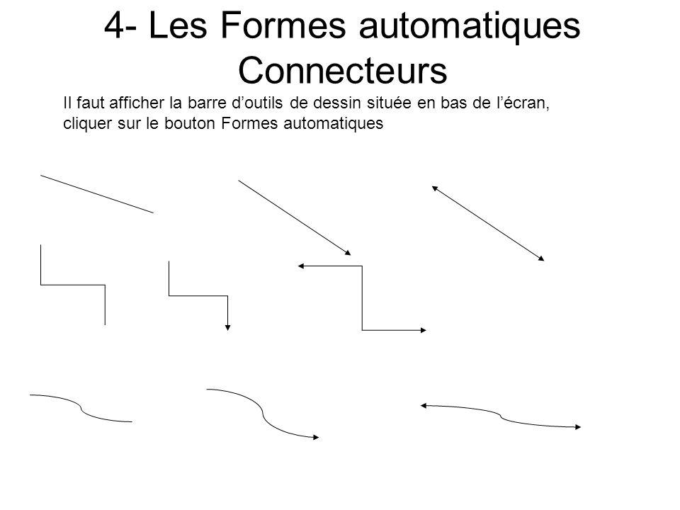 4- Les Formes automatiques Connecteurs