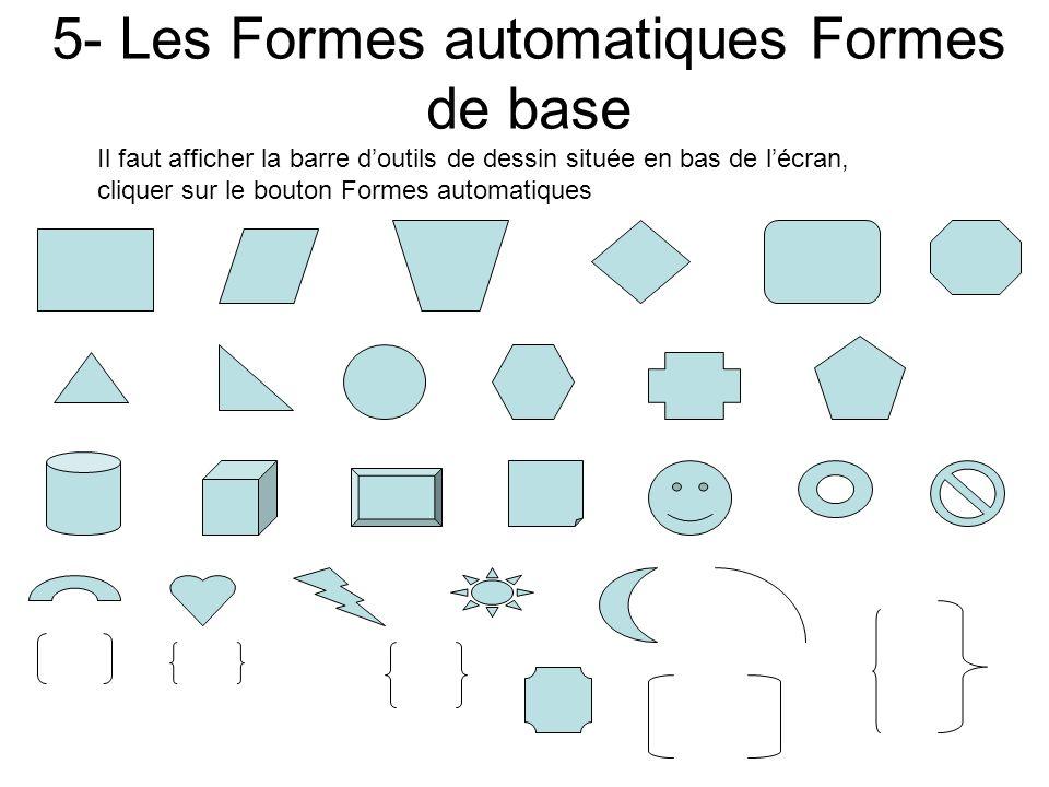 5- Les Formes automatiques Formes de base