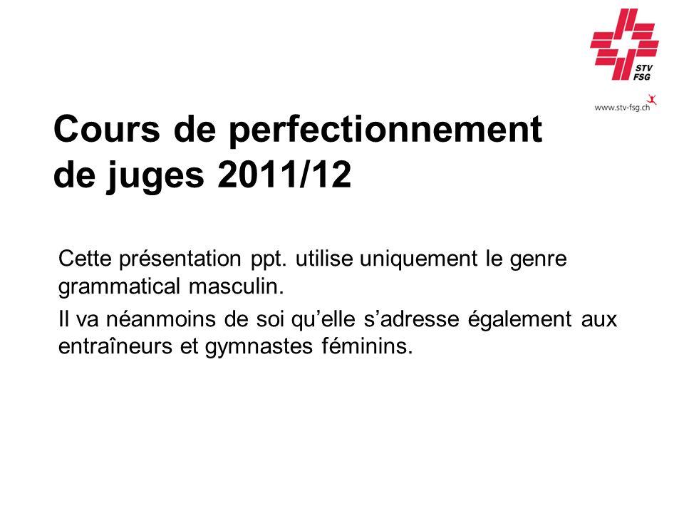 Cours de perfectionnement de juges 2011/12