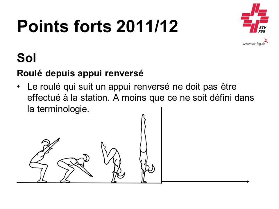 Points forts 2011/12 Sol Roulé depuis appui renversé