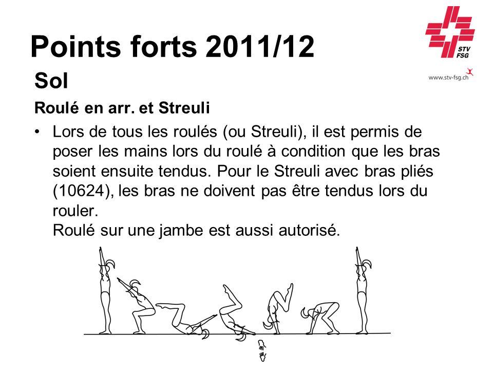 Points forts 2011/12 Sol Roulé en arr. et Streuli