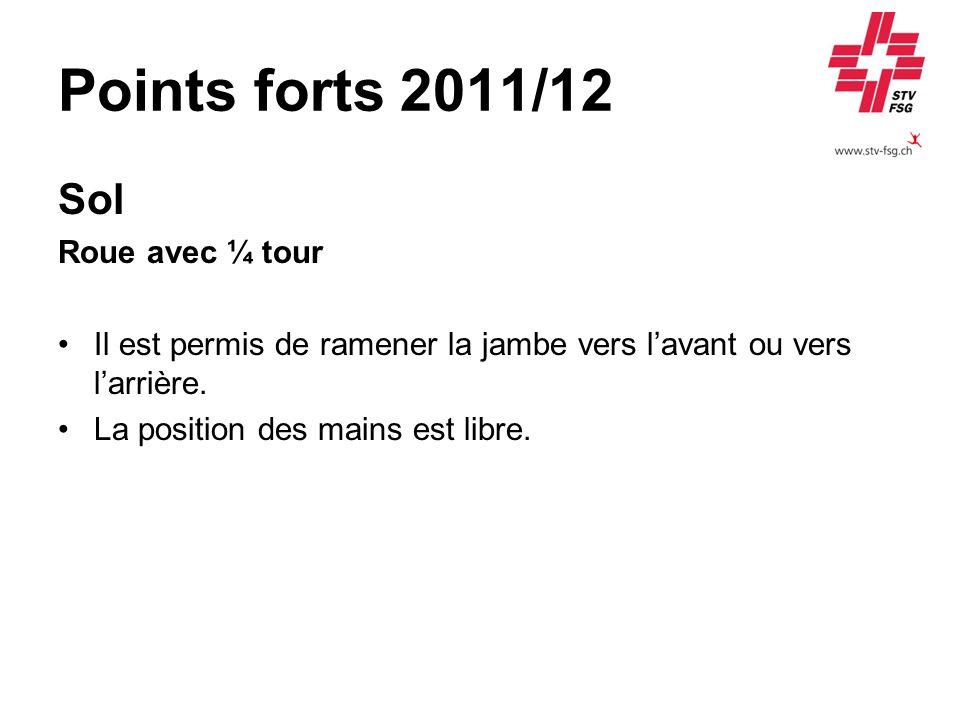 Points forts 2011/12 Sol Roue avec ¼ tour