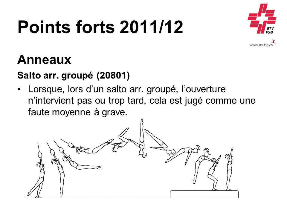 Points forts 2011/12 Anneaux Salto arr. groupé (20801)