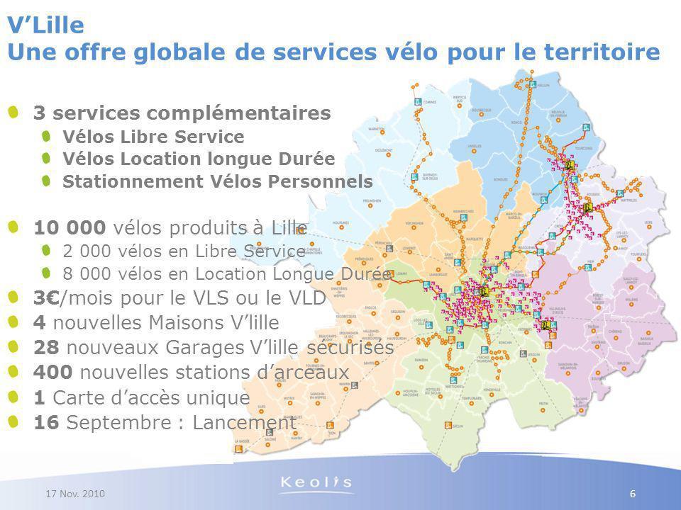 V'Lille Une offre globale de services vélo pour le territoire