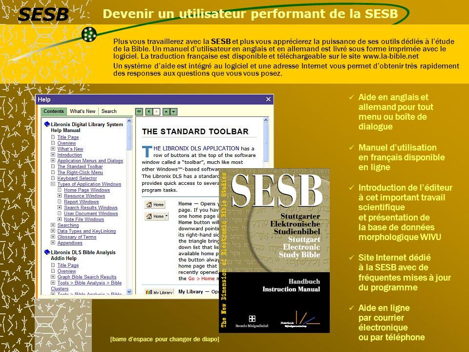 Devenir un utilisateur performant de la SESB