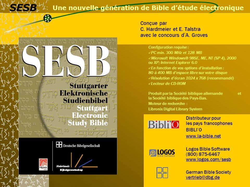 Une nouvelle génération de Bible d'étude électronique