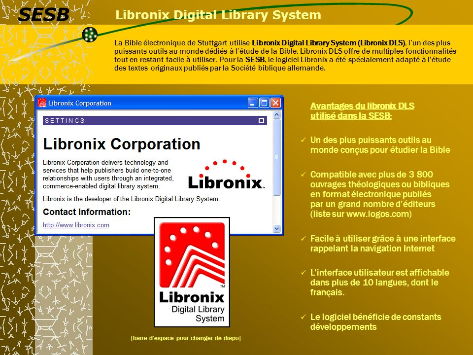 Libronix Digital Library System