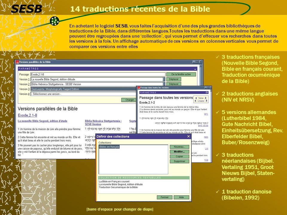 14 traductions récentes de la Bible