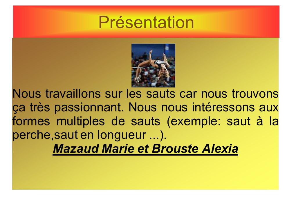 Mazaud Marie et Brouste Alexia