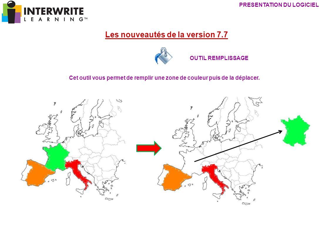 PRESENTATION DU LOGICIEL Les nouveautés de la version 7.7