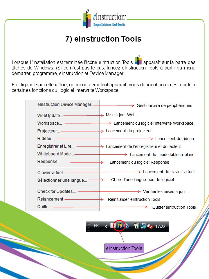 7) eInstruction Tools