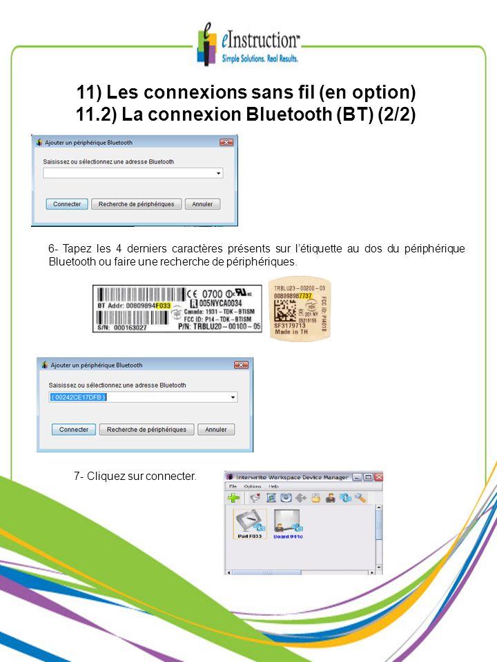 11) Les connexions sans fil (en option)