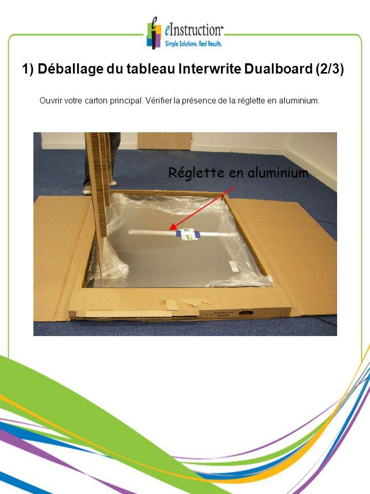 1) Déballage du tableau Interwrite Dualboard (2/3)