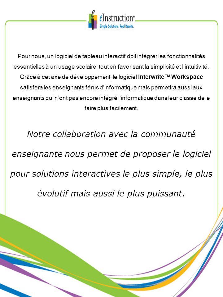 Pour nous, un logiciel de tableau interactif doit intégrer les fonctionnalités essentielles à un usage scolaire, tout en favorisant la simplicité et l'intuitivité.