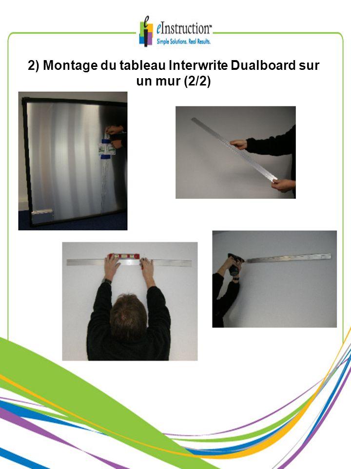 2) Montage du tableau Interwrite Dualboard sur un mur (2/2)